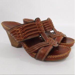 Frye Leather Slide Sandals